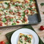 Easy low carb white sauce pizza recipe