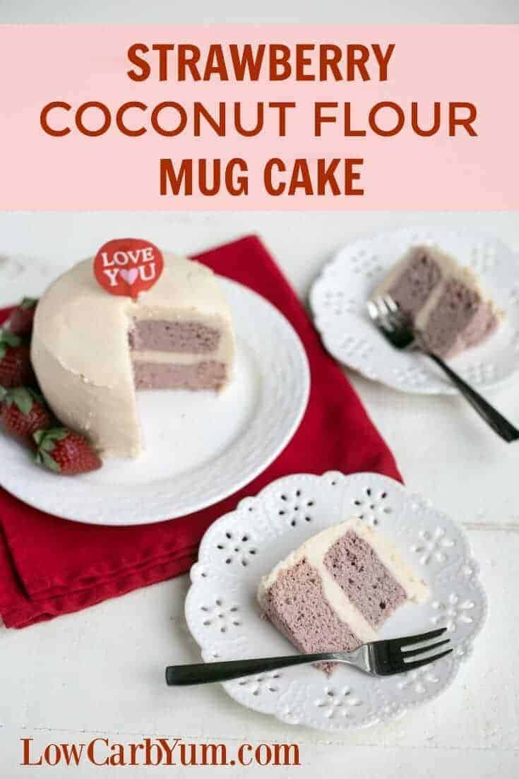 Baking a low carb can be quick and easy. Try this strawberry coconut flour mug cake that bakes in only a couple minutes using the microwave.