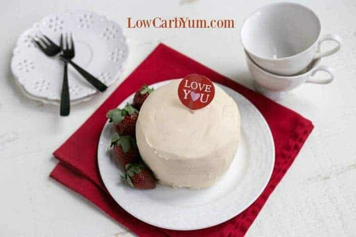 Strawberry coconut flour mug cake