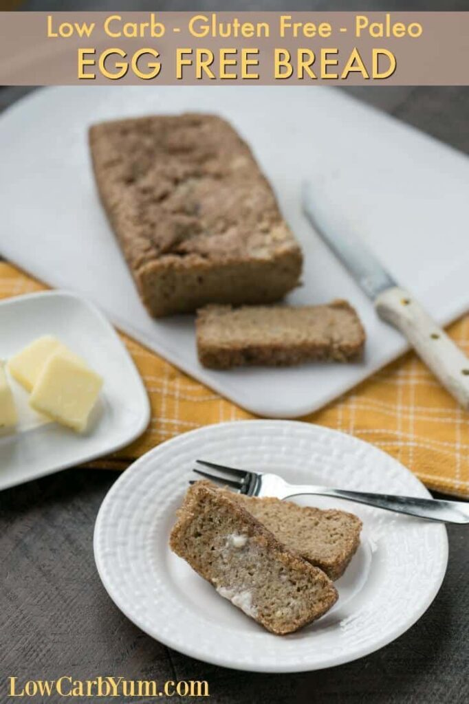 Paleo gluten free egg free bread with psyllium
