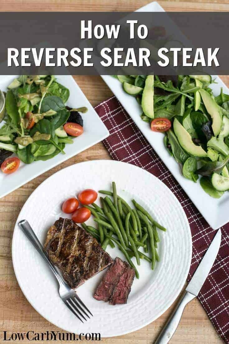 reverse sear steak oven to cast iron cooking method