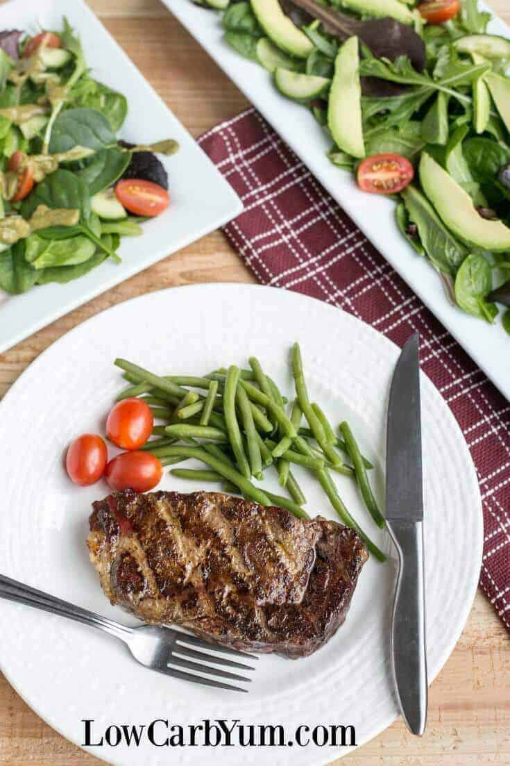 A delicious reverse sear steak for dinner