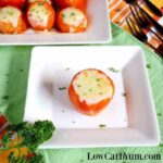 Stuffed tomatoes with ground meat and cheese