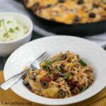Cheesy beef taco skillet recipe with cauliflower rice