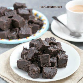 Heavenly Cream Cheese Dark Chocolate Keto Fudge