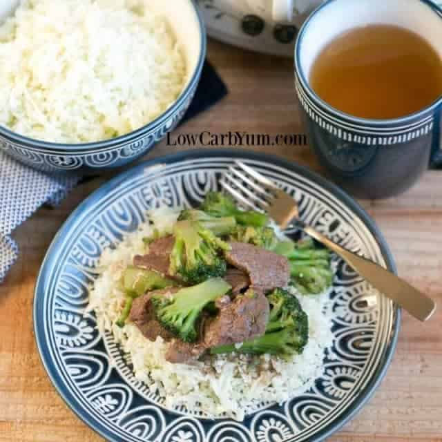 Slow cooker crock pot beef and broccoli