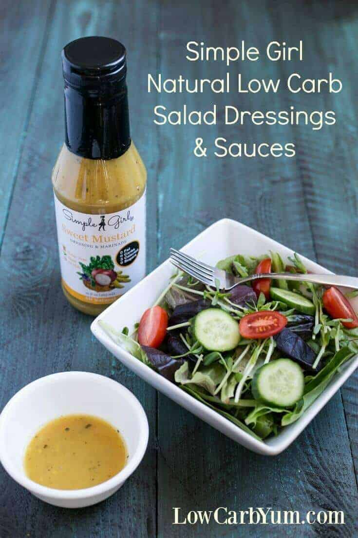 Simple Girl offers delicious low carb dressings and sauces. You'll love the taste and the fact that they are made with all natural ingredients. | LowCarbYum.com