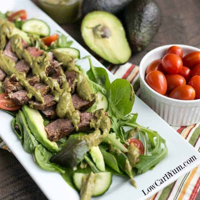 Southwest Steak Salad with Spicy Avocado Dressing