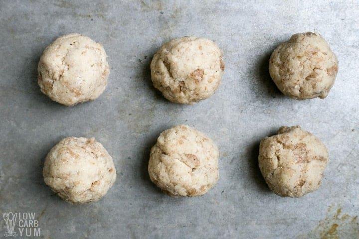 keto tortilla dough balls