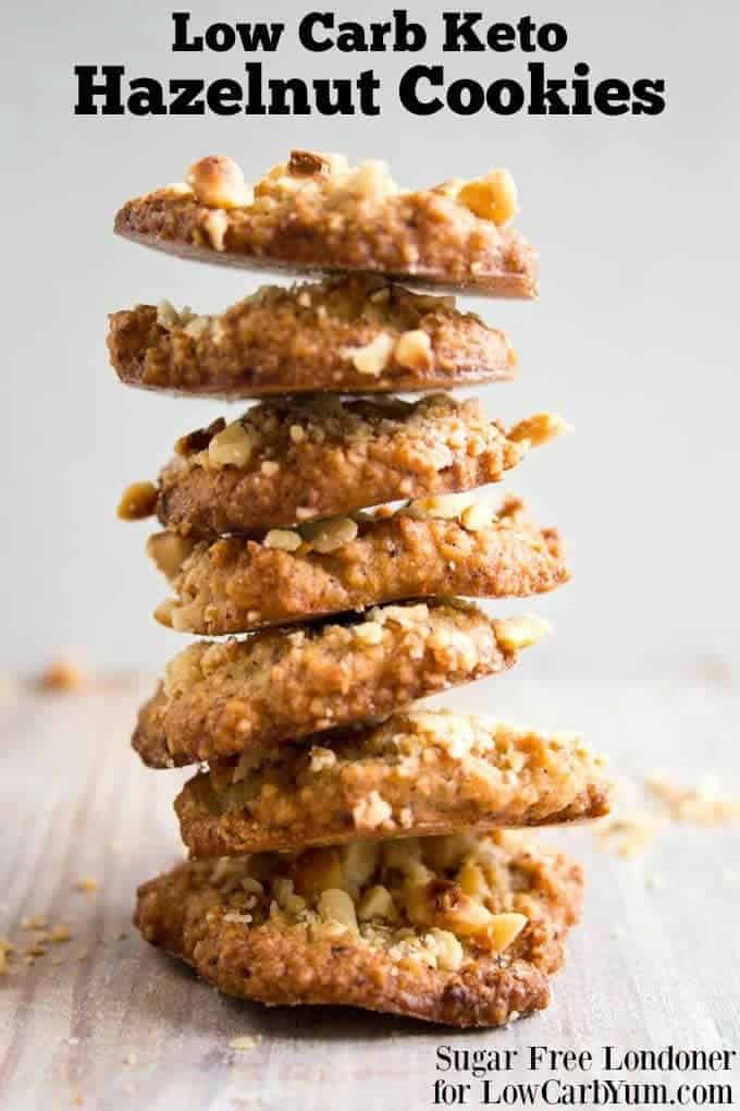 Hazelnut cookies stack