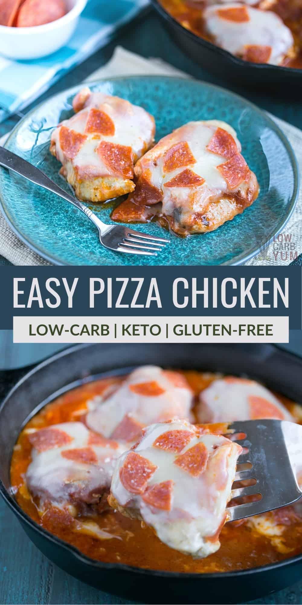 easy pizza chicken pinterest image