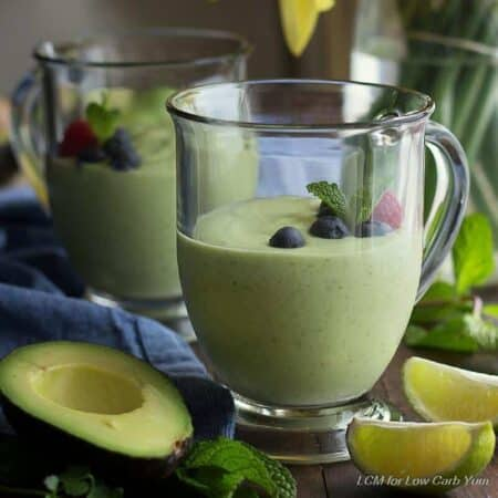 Green keto smoothie recipe