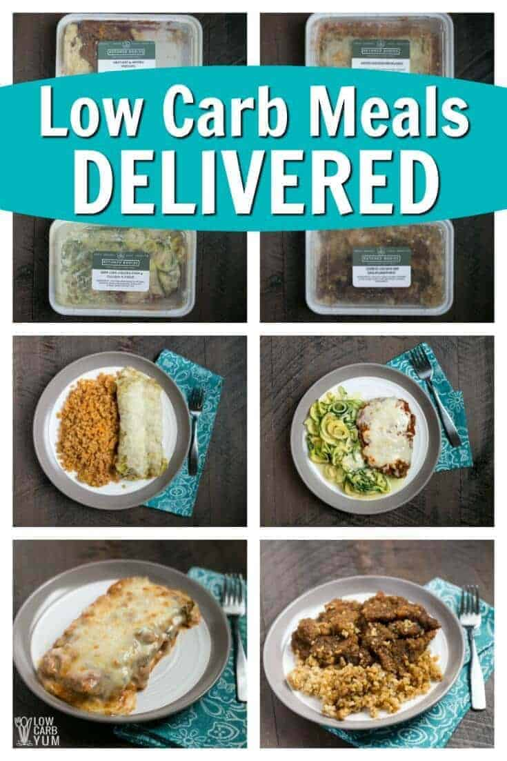 If you don't have time to cook, check out the low carb meal delivery offered by Ketoned Bodies. Simply shop the online menu for keto meals delivered. | LowCarbYum.com