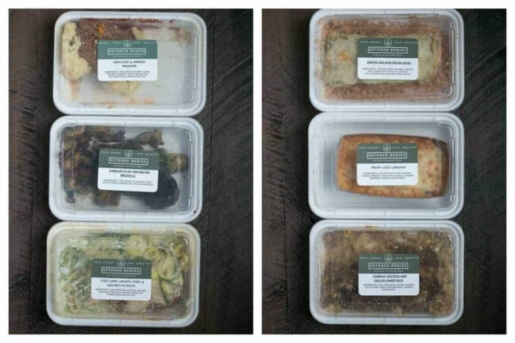 Ketoned Bodies low carb meal delivery containers