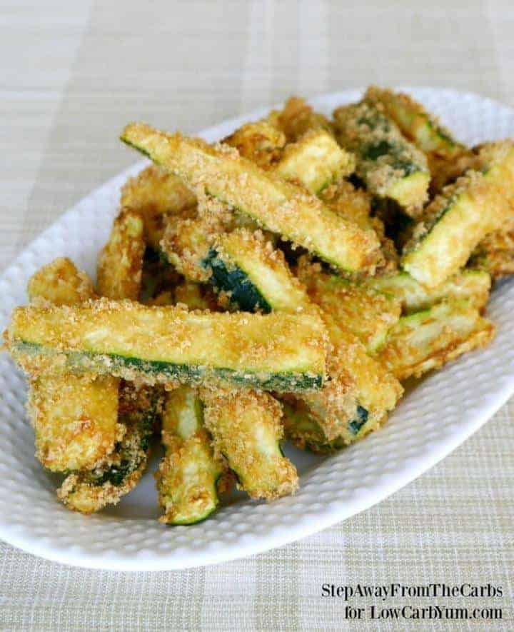 Low carb zucchini fries featured recipe image