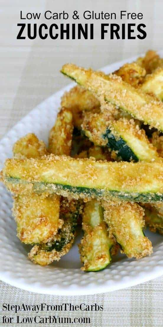 There are plenty of vegetables other than potatoes to make fries. Discover how easy it is to make your own low carb zucchini fries with this simple recipe. | LowCarbYum.com