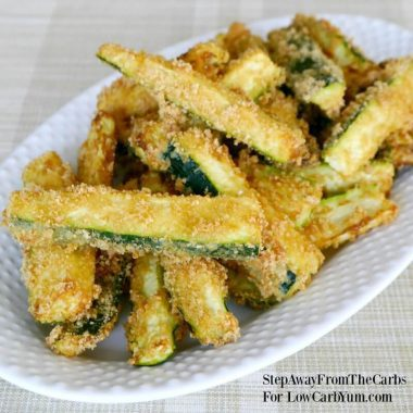 Low carb zucchini fries