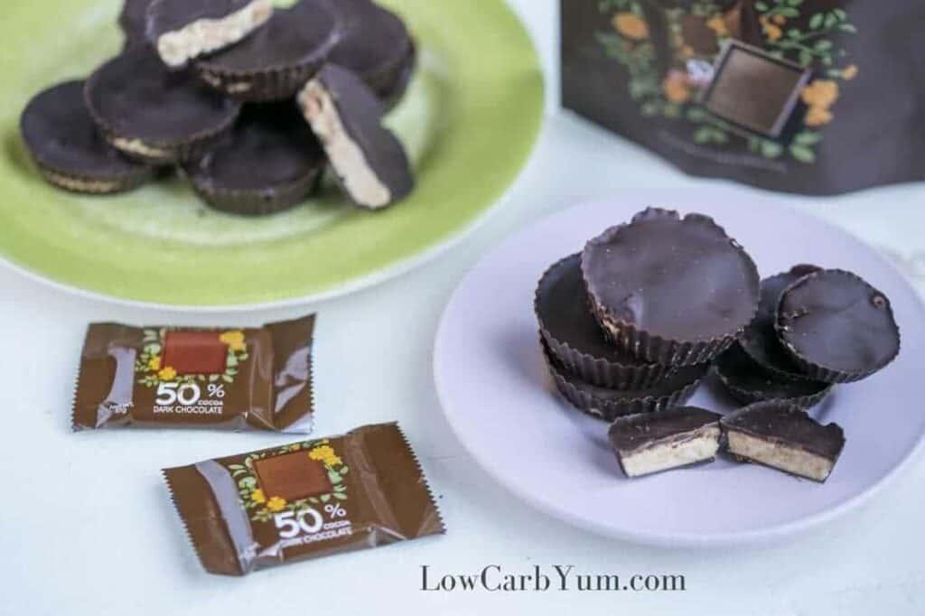 Sugar free peanut butter cups recipe with ChocZero