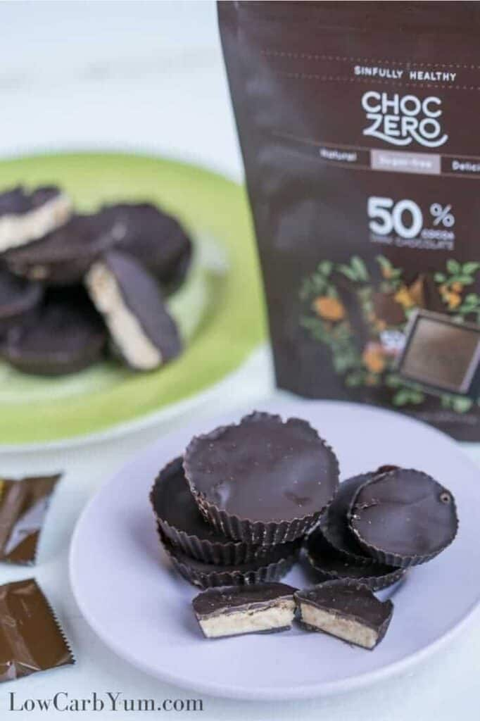 Sugar free peanut butter cups recipe for keto diet