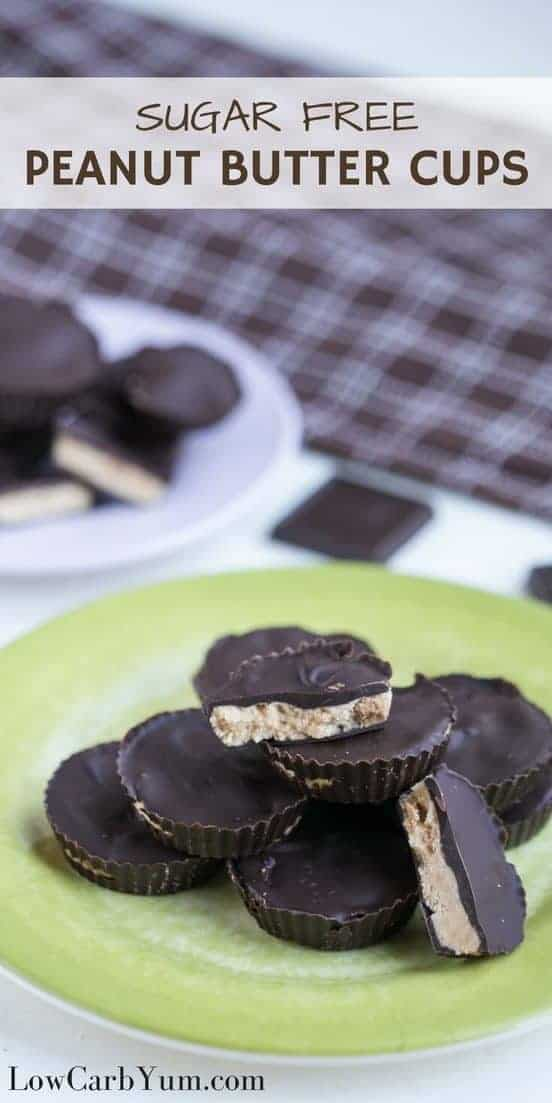 Delicious sugar free peanut butter cups with only 2 grams net carbs each. With carbs so low, go ahead and enjoy this low carb keto candy. | LowCarbYum.com