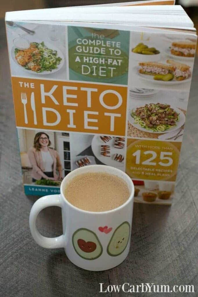 The Keto Diet Cookbook review cover shot with Rocket Fuel Latte