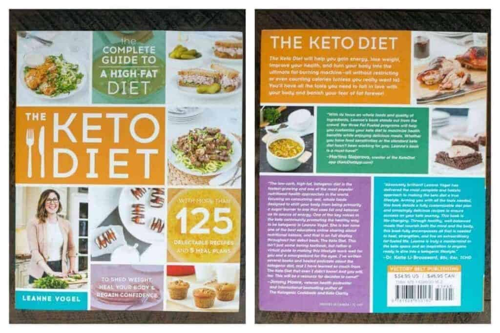 The Keto Diet Cookbook front and back shots