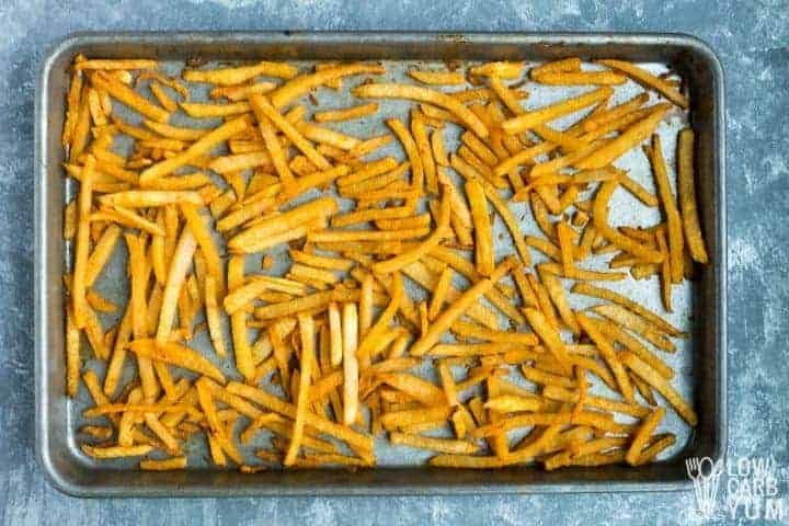 baking low carb french fries