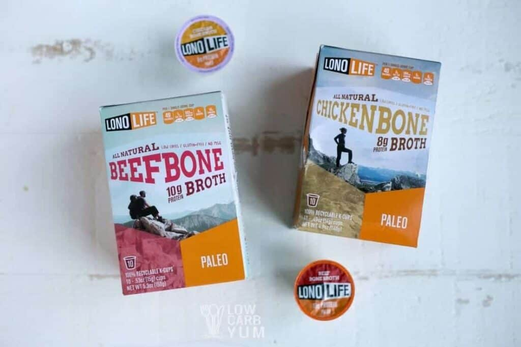 LonoLife bone broth k-cups short