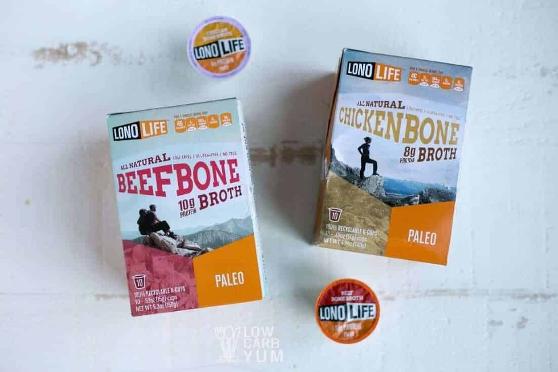 LonoLife bone broth k-cups short