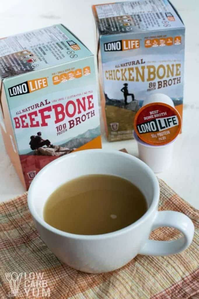 LonoLife bone broth k-cups tall