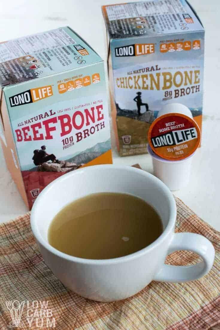LonoLife bone broth k-cups tall