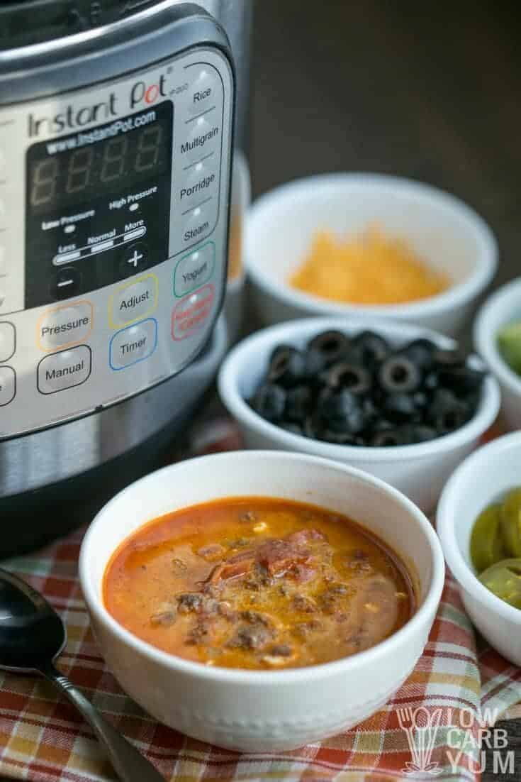 Low carb taco soup in the Instant Pot - Gluten Free