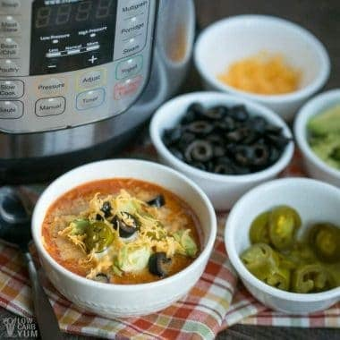 Instant Pot Low Carb Taco Soup with Cream Cheese