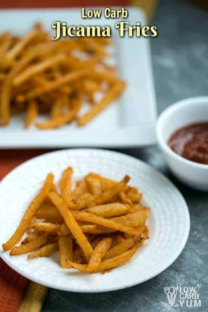 Low carb jicama keto fries