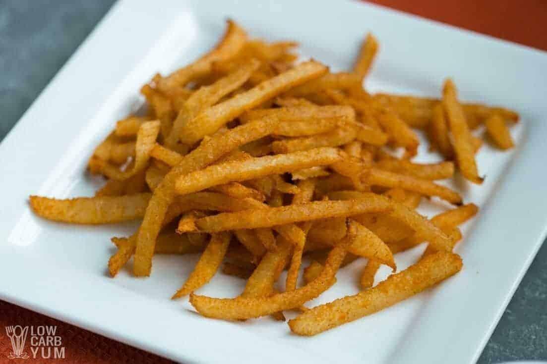 Serving jicama fries