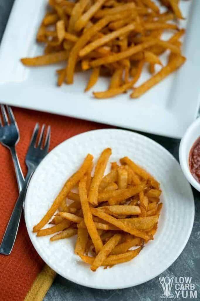 Yummy low carb seasoned jicama fries