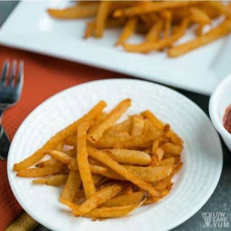 Low carb jicama fries featured