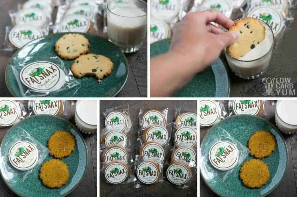 Sugar free paleo keto Fat Snax cookies