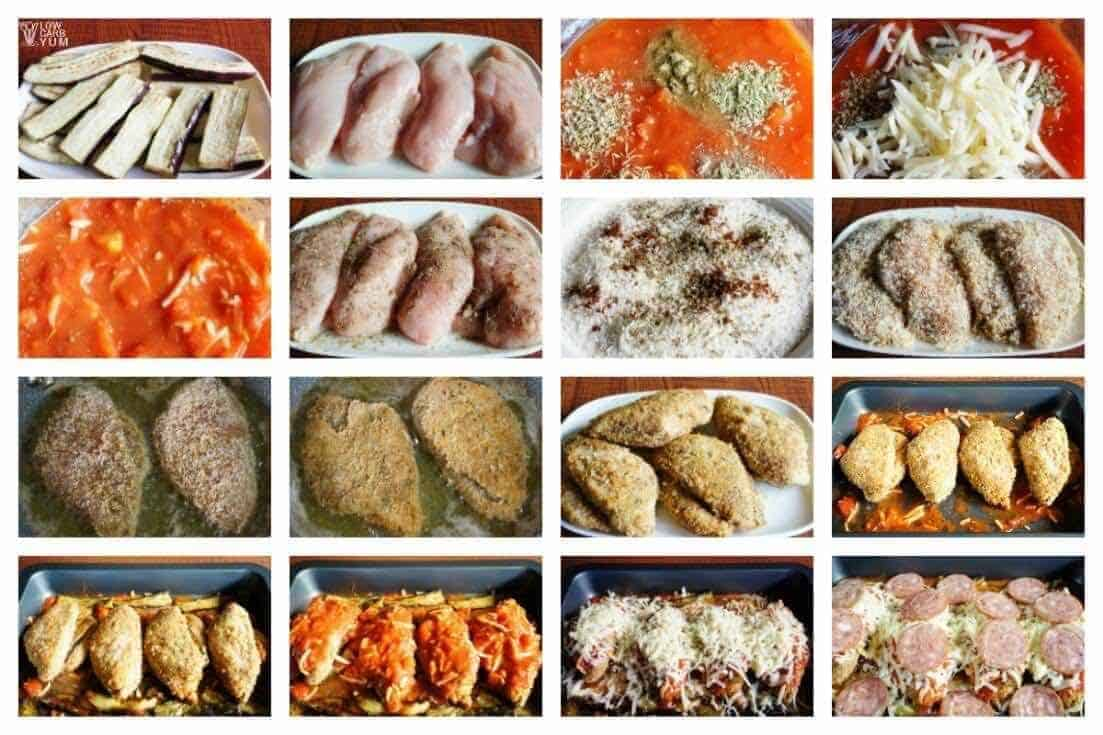 Low carb chicken parmesan recipe prep
