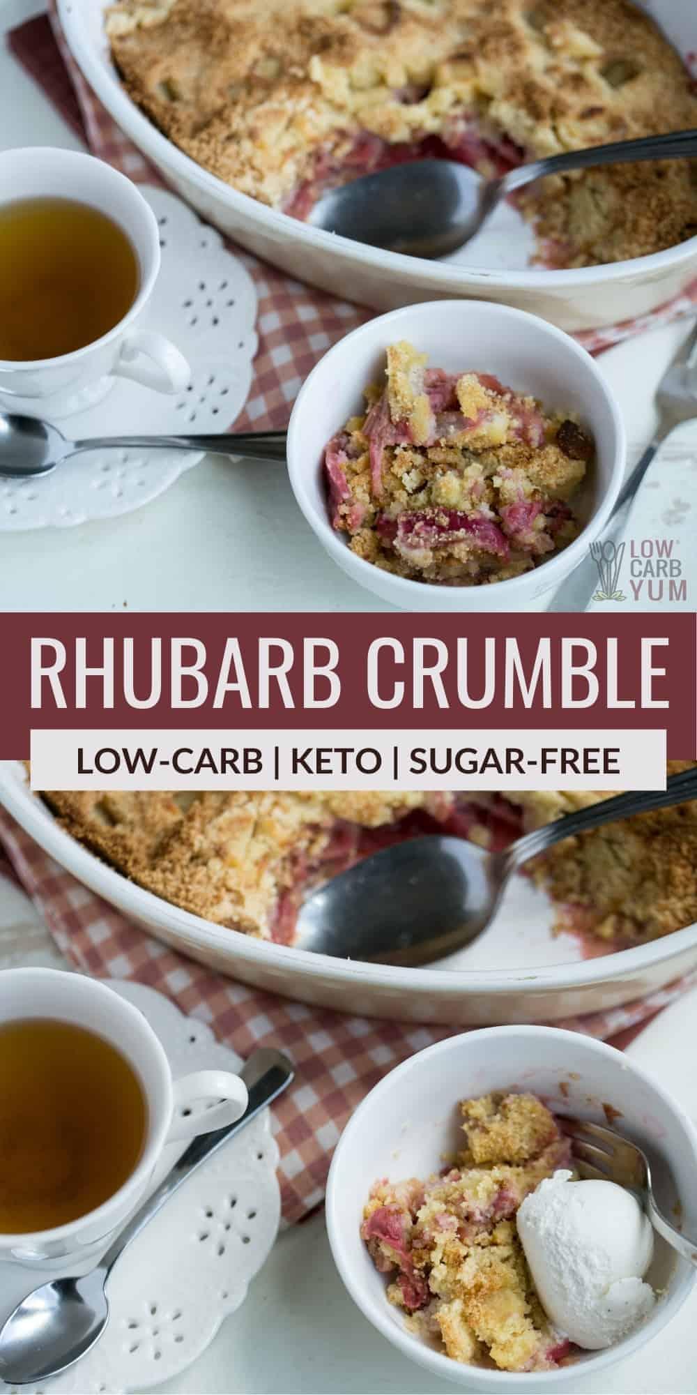 rhubarb crumble pinterest image