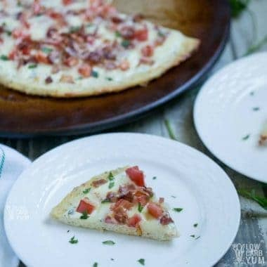 Bacon Ranch Chicken Crust Pizza – Keto & Gluten Free
