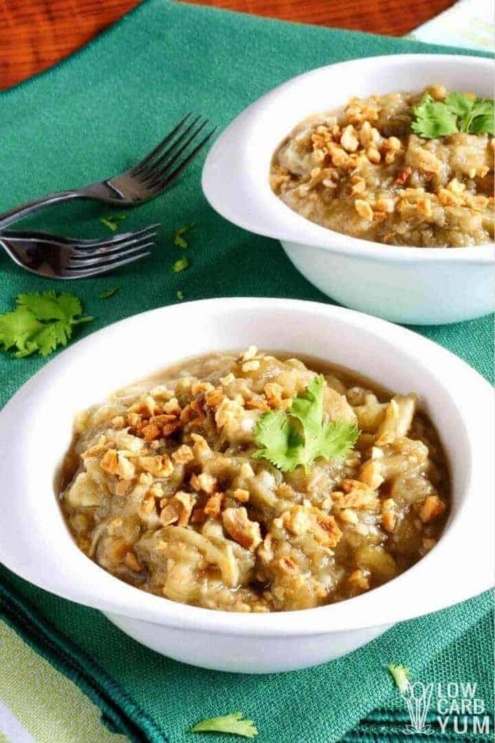 Recipe for ensaladang talong - Filipino eggplant salad