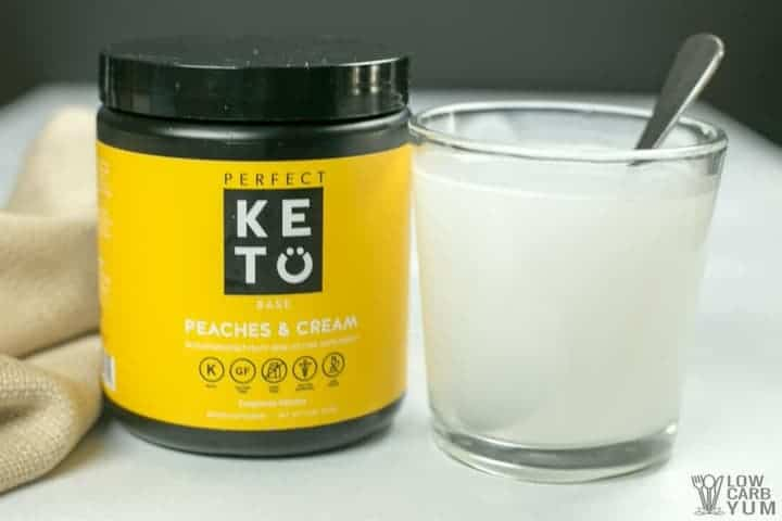 Perfect Keto exogenous ketones BHB salts keto powder - Peaches and Cream