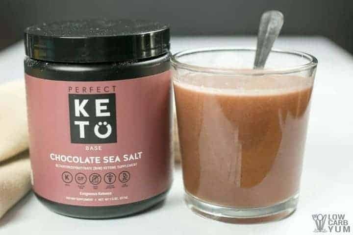 Perfect Keto exogenous ketones BHB salts keto powder - Chocolate Sea Salt