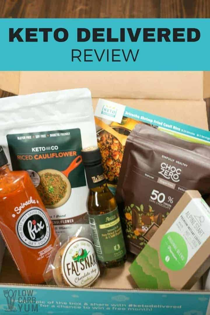 Keto Delivered review of low carb subscription box