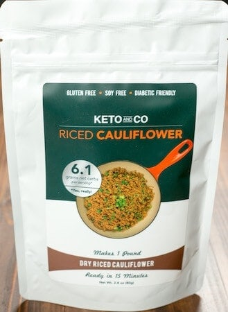 Keto Delivered review dry riced cauliflower