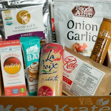 June 2017 Keto Krate Monthly Subscription Box Review