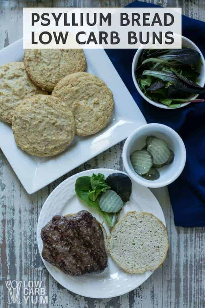 Psyllium bread low carb buns