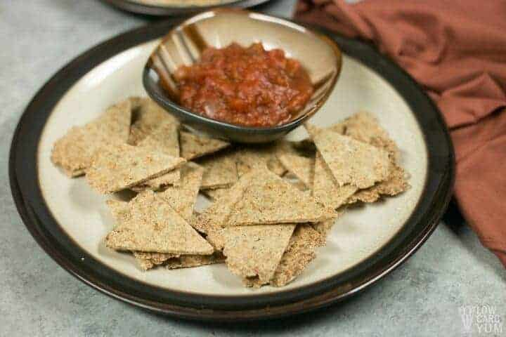 Easy to make low carb tortilla chips