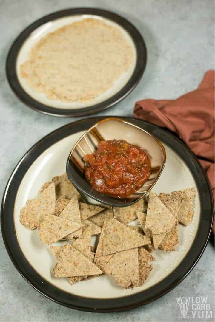 Homemade low carb tortilla chips recipe